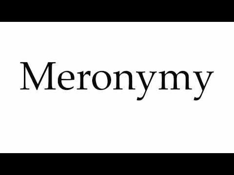 How to Pronounce Meronymy