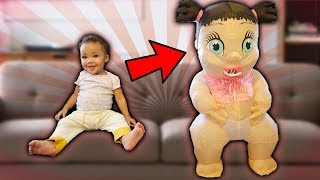 Baby Sister Transforms into Giant Baby!