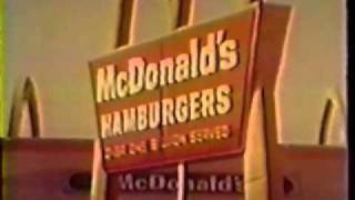 Compilation of late 1960s McDonalds Commercials Part 1 (USA)