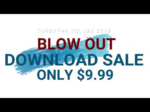 TURBOTAX DELUXE 2018 $9 99 DOWNLOAD - YouTube