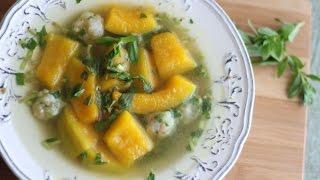 Canh Bi Do Nau Tom (Vietnamese Kabocha Squash Soup with Shrimp Balls) Pumpkin Soup