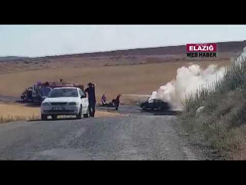 Elazığ'da araç içerisinde yanan şahsın yol kenarına bıraktığı notlar araştırılıyor