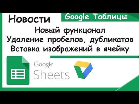 Новые функции Гугл Таблиц.Удаление дубликатов и пробелов.Вставка изображений.Новости Google Sheets.