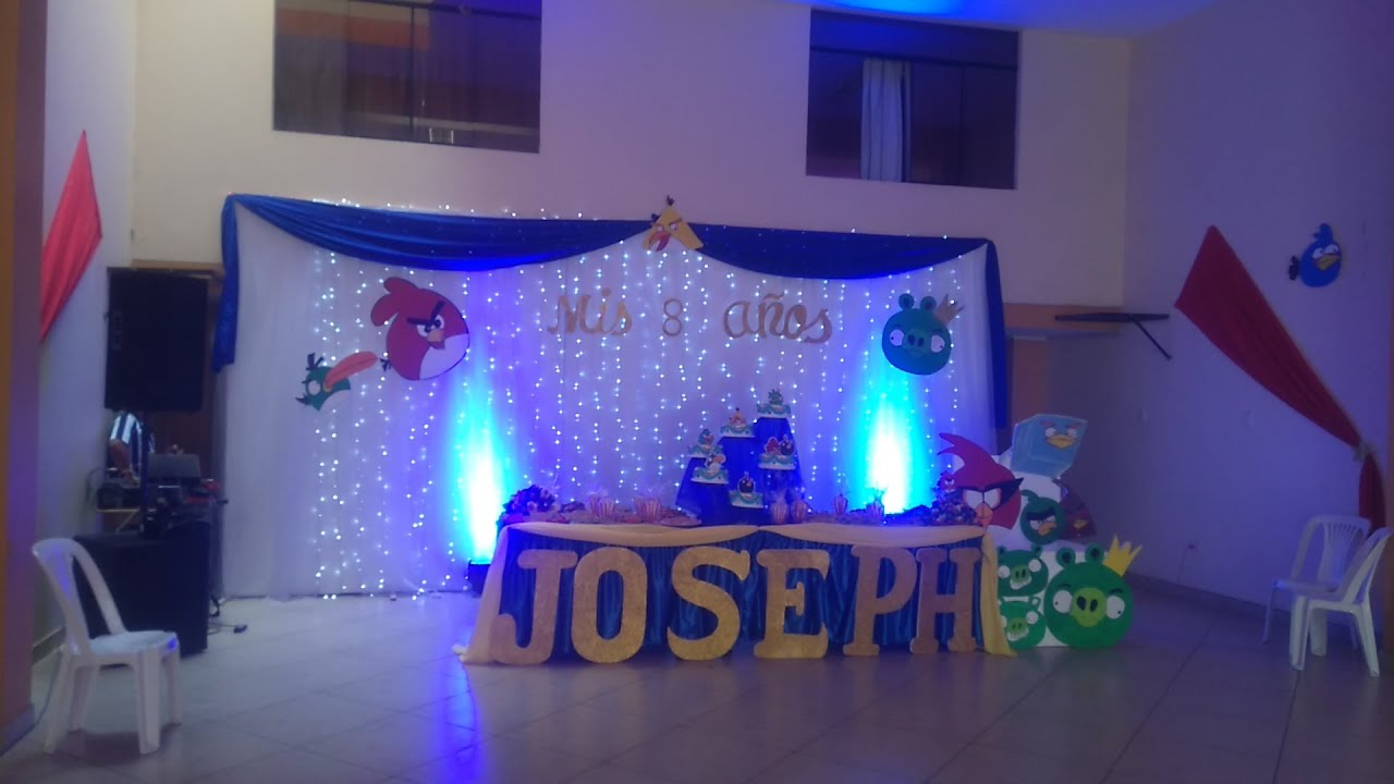 Decoracion de fiesta con luz led youtube - Decoracion con luces ...