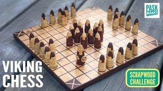 Viking Chess game - Hnefatafl - Scrapwood Challenge ep23