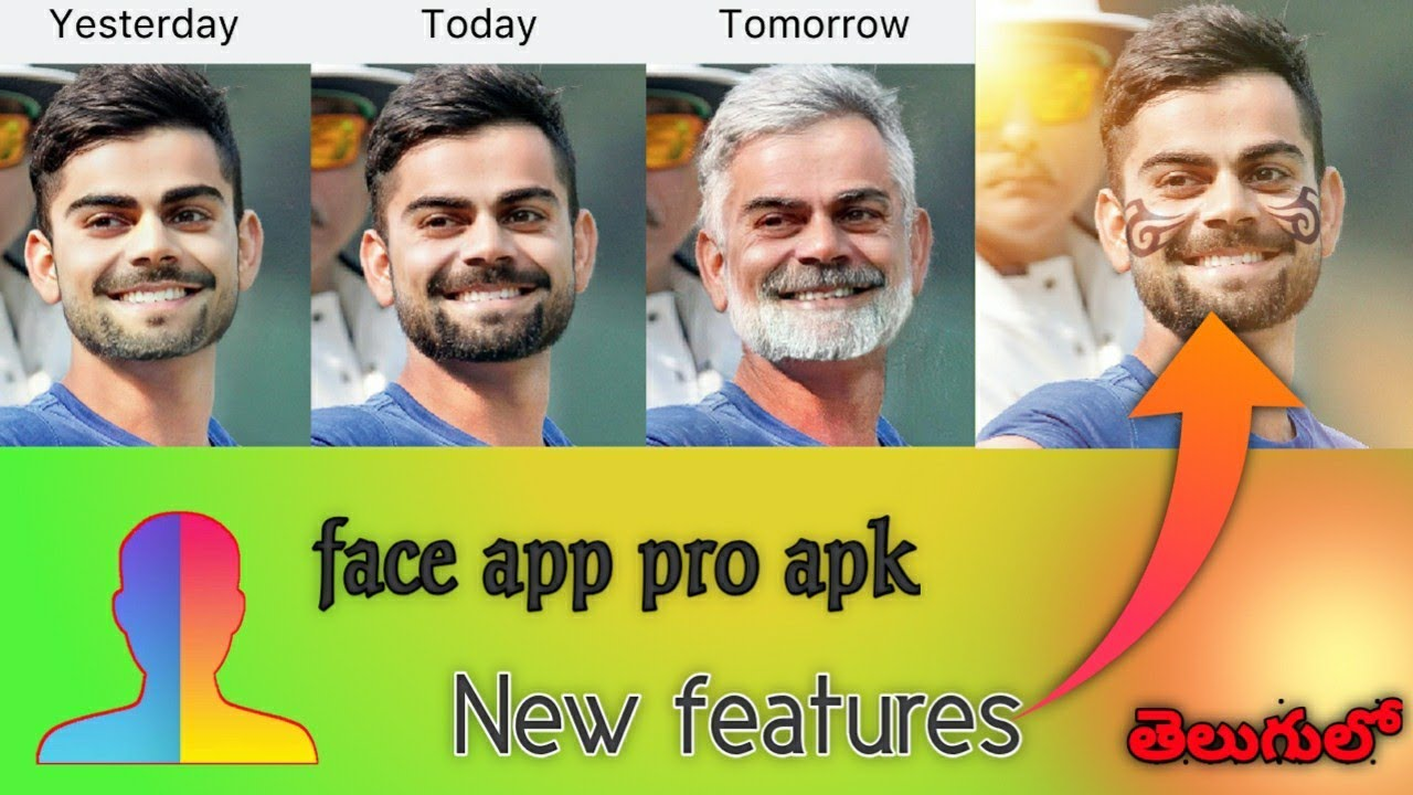 Faceapp (pro APK) full new features || ft  Virat Kohli || by SUMANTH  TECHINFO
