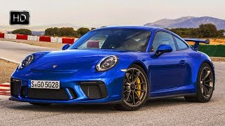 2018 Porsche 911 GT3 Sapphire Blue Metallic 500 HP 4.0-Liter Engine Design & Drive HD