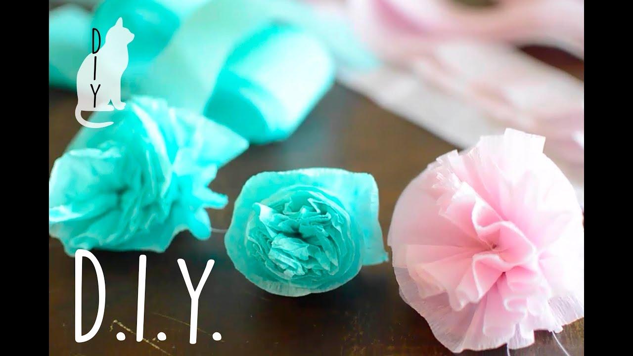 Diy easy paper flowers streamer flowers crepe paper flowers youtube diy easy paper flowers streamer flowers crepe paper flowers mightylinksfo