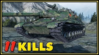 WZ-111 5A - 11 Kills - 1 VS 6 - World of Tanks Gameplay