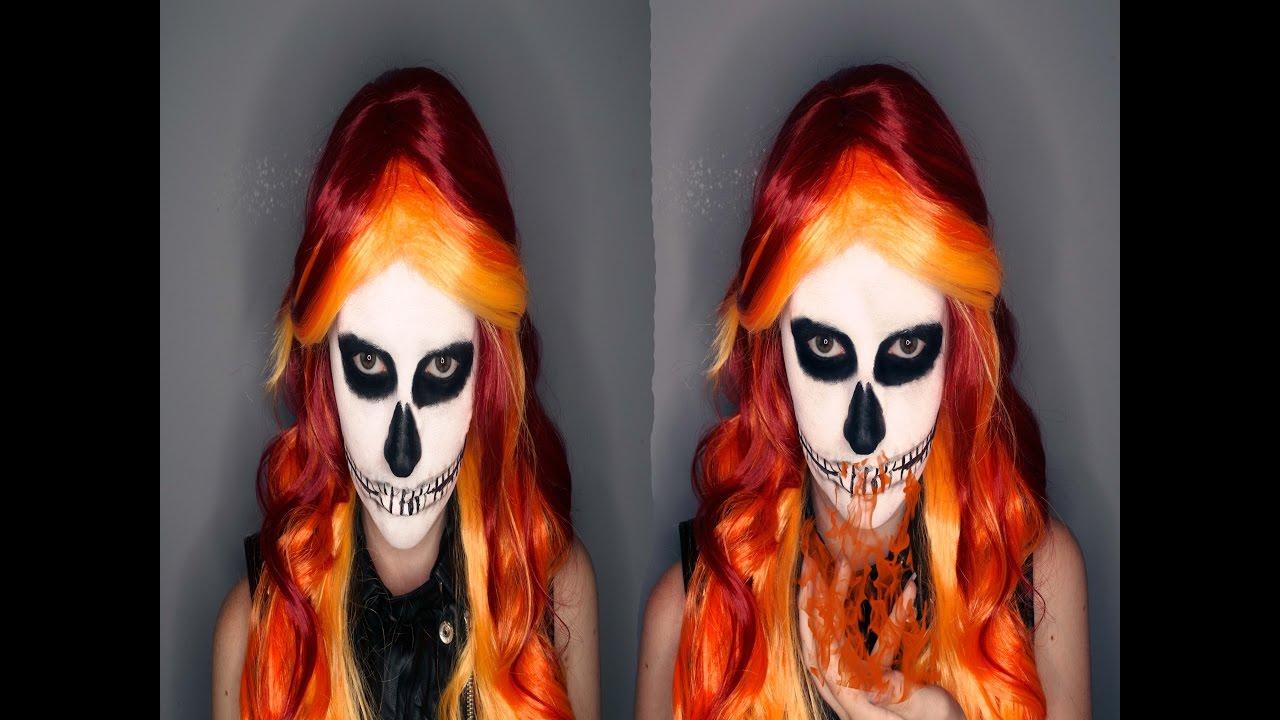 Skeleton face paint easy 5 min tutorial youtube.