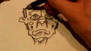 how to draw cartoons : sad old man
