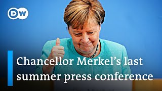 'It was a pleasure' says Chancellor Angela Merkel at her last federal press conference