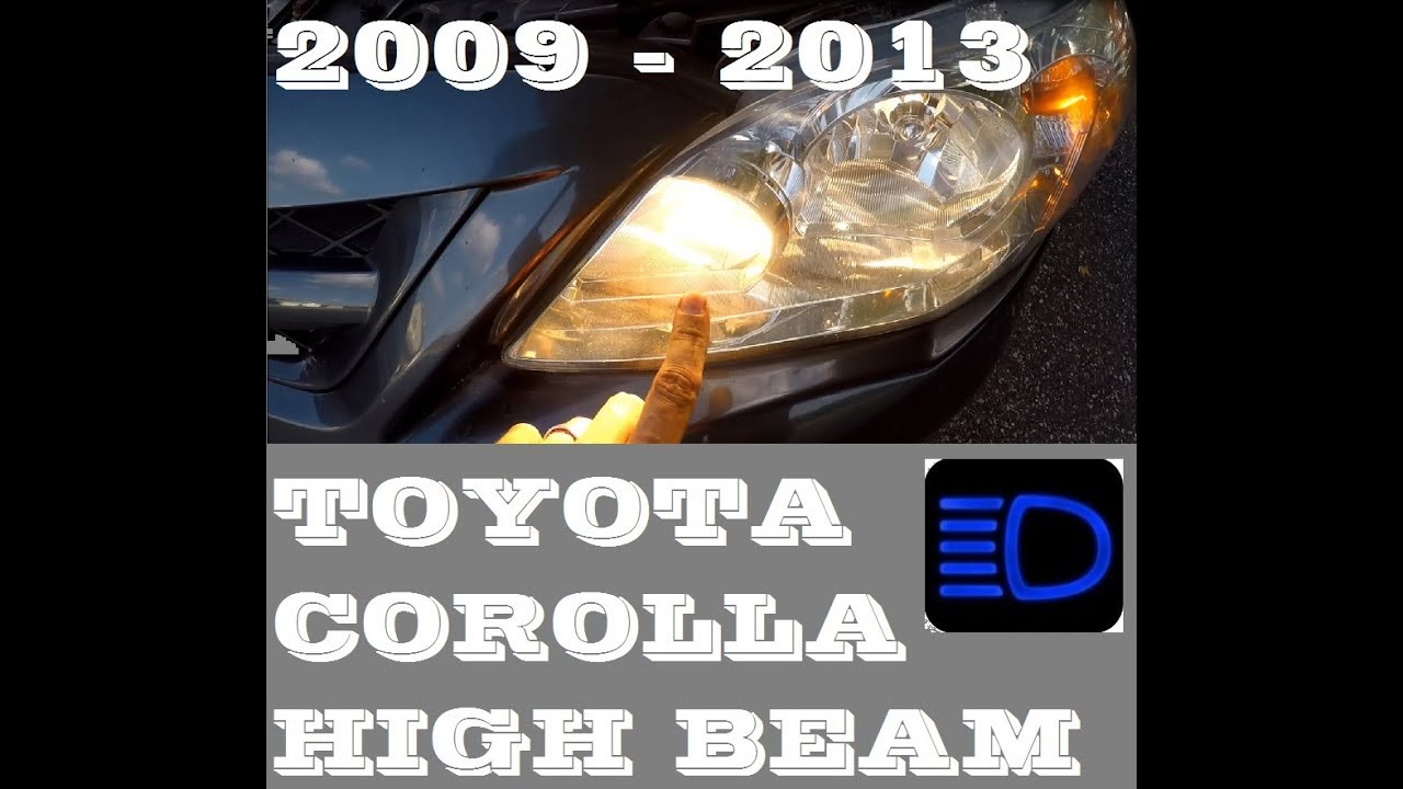 How To Replace High Beam Light Bulb In Toyota Corolla 2009 2017