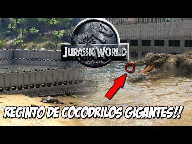 NUEVO RECINTO COCODRILOS DINOSAURIOS GIGANTES!! COCODRILOS PREHISTORICOS! JURASSIC WORLD ARK PARK!!