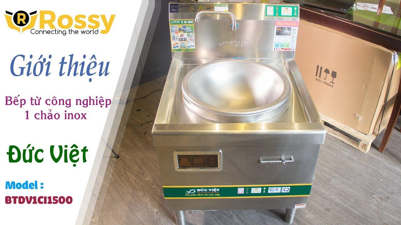 Giới thiệu bếp từ Đức Việt một chảo inox BTDV1CI1500   Induction Cookers   Bếp  từ