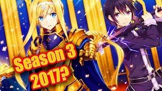 Sword Art Online Season 3 Confirmation!? Sword Art Online Special Announcement