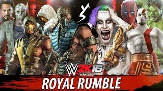 WWE 2K16 - 10 Man Royal Rumble   PS4 Gameplay