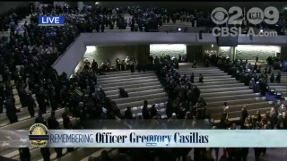 WATCH: Memorial service held for fallen Pomona police officer