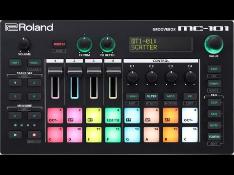 Roland MC-101 Groovebox Hands-On Demo
