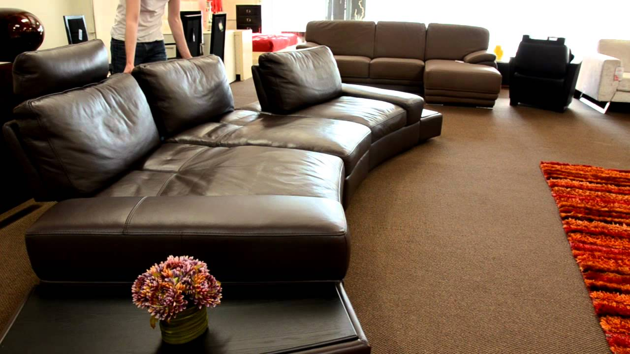 Modern Leather Sectional Sofa With Adjustable Back Youtube