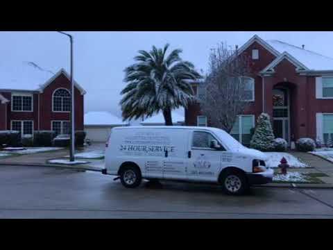 Snow in Dickinson / League City, Texas