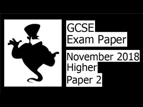 Edexcel GCSE Maths November 2018 2H Exam Paper Walkthrough thumbnail