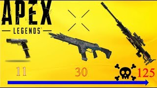 APEX legends weapons damage points comparison - (2019)