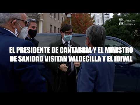 Visita del ministro de Sanidad, Salvador Illa, a Valdecilla