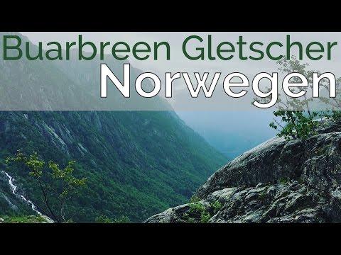 Norwegen Wanderung zum Buarbreen Gletscher bei Odda