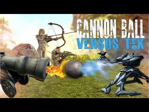 CANNON BALL VS TEK (Official Pvp Pirates) - Ark:Survival Evolved - Ep.64