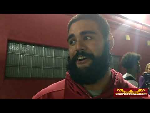Nico Falah talks about USC's win over Texas