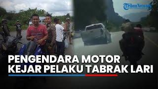 Viral Video Pengendara Motor Bonceng Polisi Kejar Pelaku Tabrak Lari
