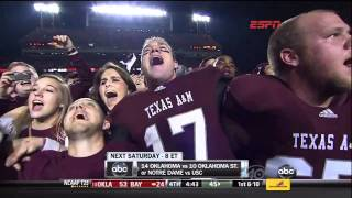 The Aggie War Hymn After the Nebraska Game On Kyle Field