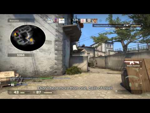 CSGO Inferno [CT B hold] Global match, mistakes and some good angles