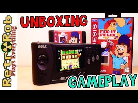 Fix It- Felix Jr New Sega Genesis Game Unboxing and Gameplay