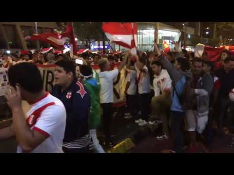 Peru Fans Celebrating World Cup Qualification in the streets of Miraflores