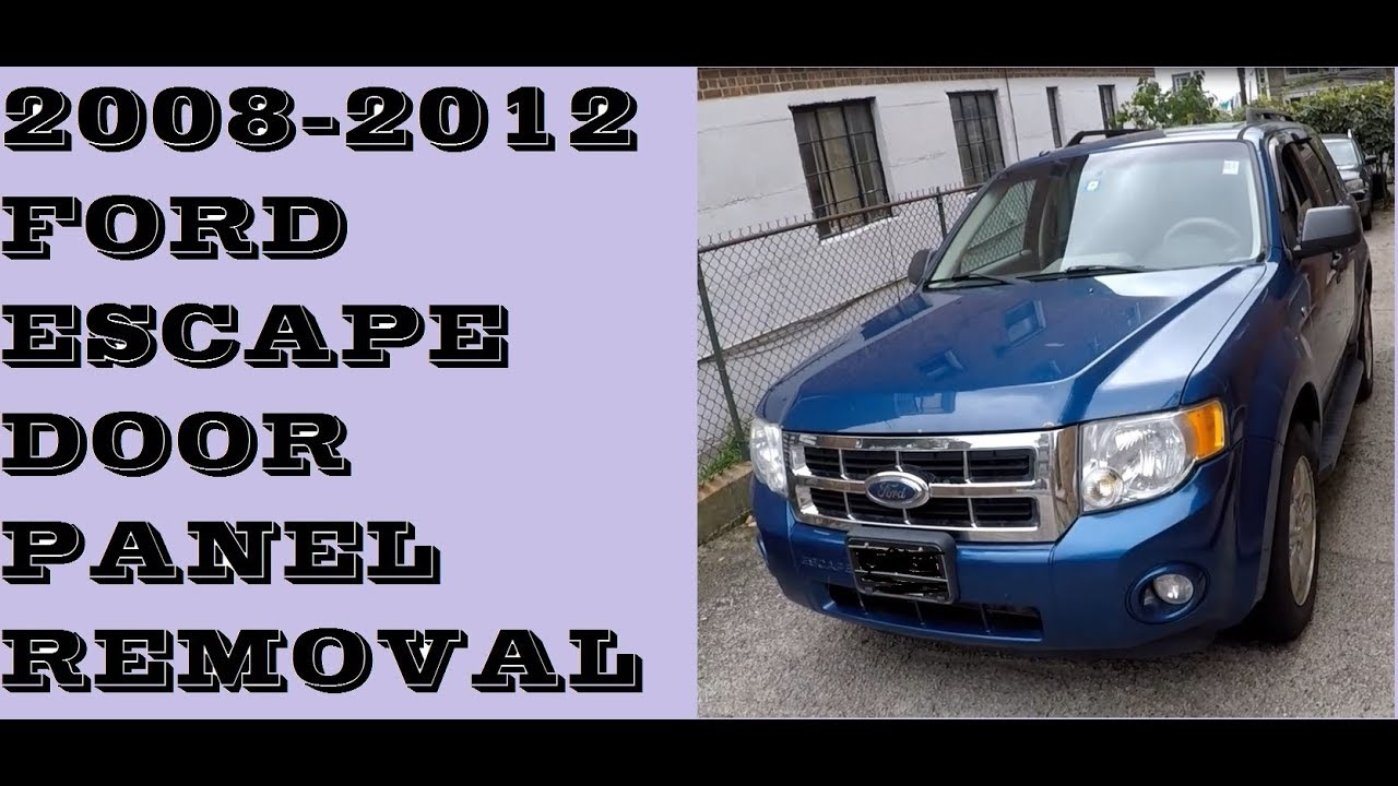 How to remove door panel in 2008-2012 Ford Escape