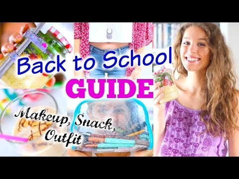 BACK TO SCHOOL GUIDE ♡ Pausen-Snack, Makeup, Outfit + Frisur |BarbieLovesLipsticks