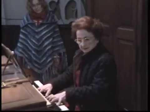 Marie-Claire Alain - Organ lesson - part one