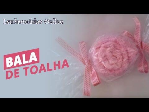Como fazer bala de toalha passo a passo de YouTube · Duração:  6 minutos 4 segundos