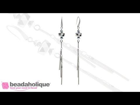 How to Use Bar Dangle Chain to Make the Chrome Comet Earrings