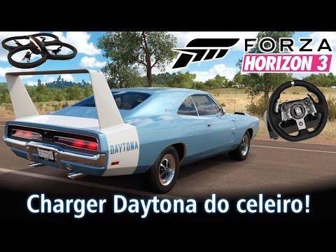 Dodge Charger Daytona do celeiro! Com a ajuda do DRONE! | Forza Horizon 3 + G920 [PT-BR]