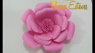 DIY- flor  gigante de papel