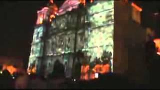 Guelaguetza 2011: Proyecciones en la Catedral de Oaxaca
