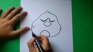 Como dibujar a Pajaroto paso a paso - Pocoyo | How to draw Pajaroto - Pocoyo