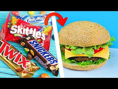 Making Food Out Of Candy! Candy vs Real Food Challenge