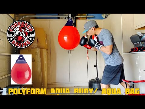 How To Make Your Own Aqua Punching Bag For CHEAP- POLYFORM WATER BUOY, SAME BAG BUT CHEAPER!