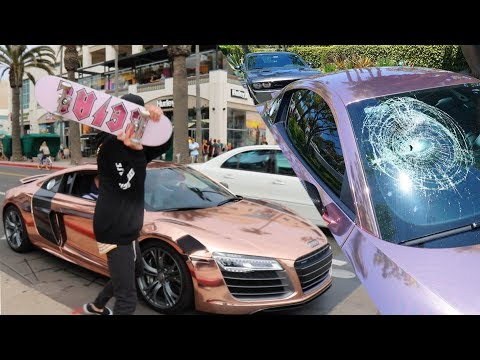 KID SMASHES MY SUPERCAR IN PUBLIC!!