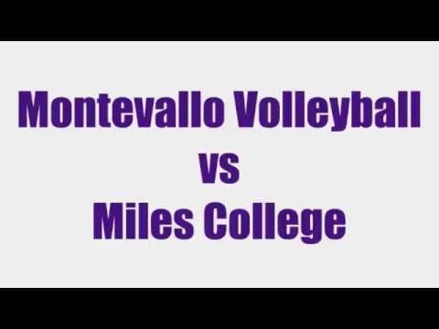 Montevallo Volleyball vs Miles College