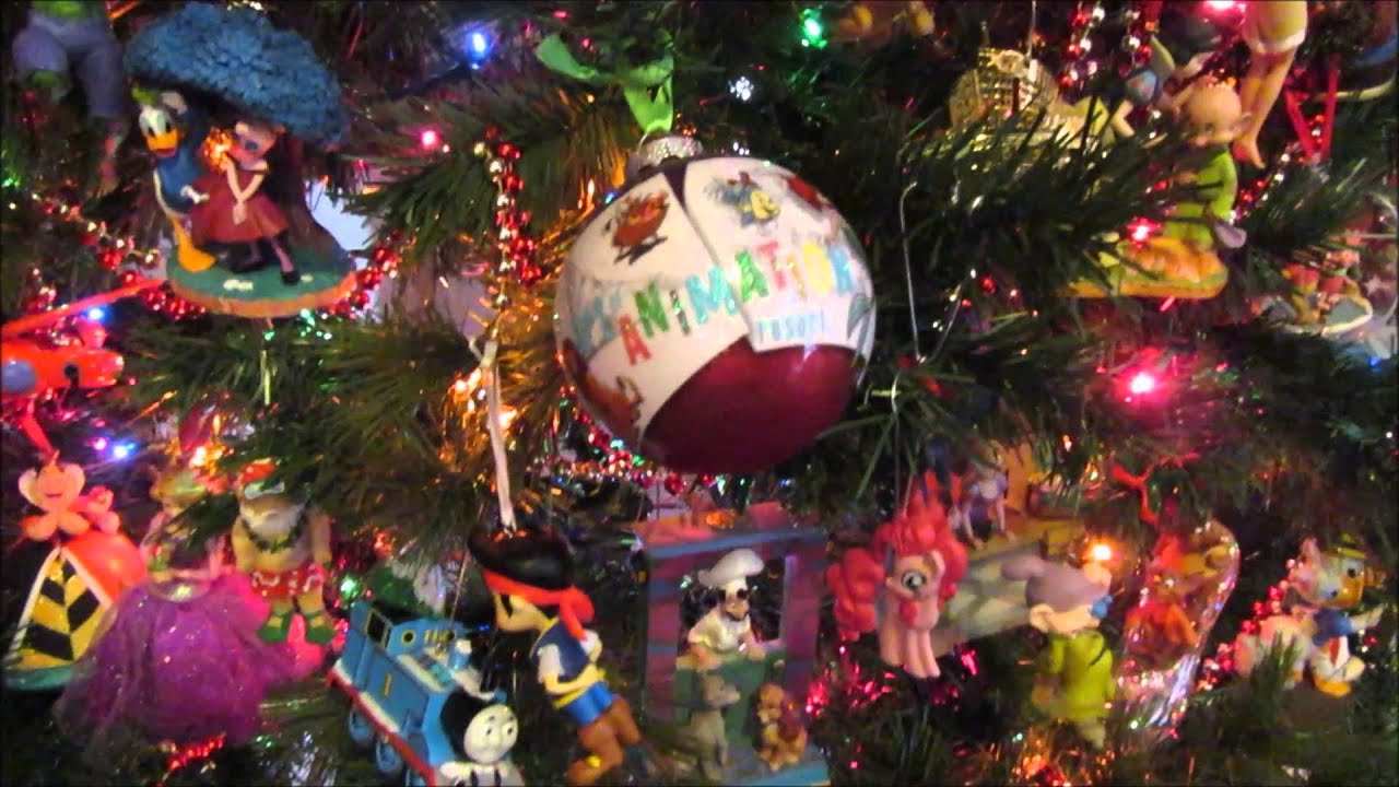 our disney christmas tree mostly special christmas ornaments